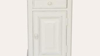 Redcurrent Bedside Cabinet White