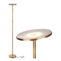 Brightech Sky Flux LED Torchiere Floor Lamp, Brass
