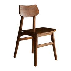 Milo White Cedar Dining Chair, Walnut Finish