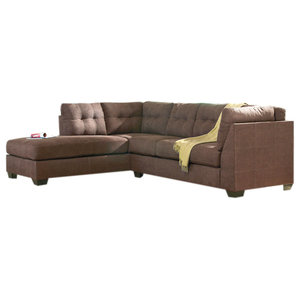 Magnificent Benchcraft Maier Sectional With Left Side Facing Chaise Squirreltailoven Fun Painted Chair Ideas Images Squirreltailovenorg