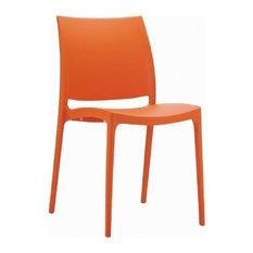 Maya Dining Chair, Orange, Set of 2