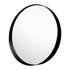 - Miroir rond de salle de bains D80cm en métal époxy - Miroir de Salle de Bain