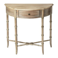 Butler Skilling Driftwood Demilune Console Table, Gray