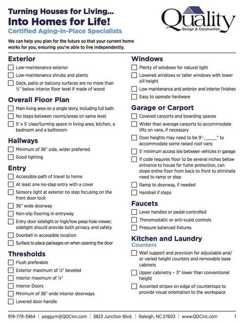 Universal Design Checklist