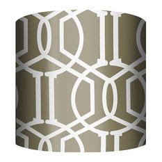 """PTM Images 10-0016 Trellis 10 Inch Tall x 12""""W Cylinder Fabric - Bronze"""
