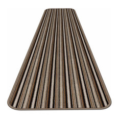 "Skid-Resistant Carpet Runner Mocha Brown Stripe, 36""x6'"