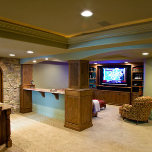 Stunning Greenwood Village Home with Stacked Stone Buffet Bar and Wood Panel Col