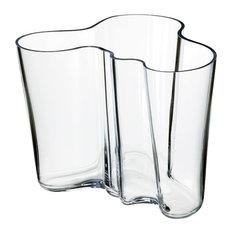 """iittala Aalto 6.25"""" Vase, Clear, 1007041"""
