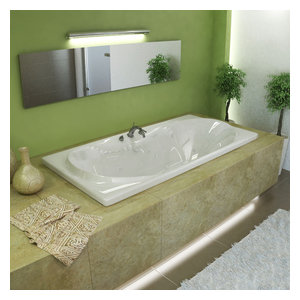 "Venzi Grand Tour Bello 36""x72"" Rectangular Air, Whirlpool Jetted Bathtub"