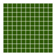 """12""""x12"""" Medium Dark Green Glass Tile, Full Sheet, Grid"""