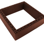 TOGETHERFARM - Togetherfarm Blocks, Earth Brown - Togetherfarm Blocks are the ultimate solution to the difficulties sometimes associated with gardening, especially raised gardening. These nifty little blocks allow you to customized your garden shape and position, and without the use of tools or hardware!