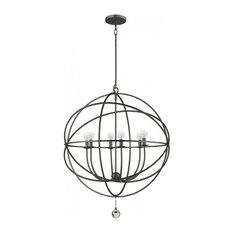 Crystorama Solaris 6 Light Bronze Sphere Chandelier III