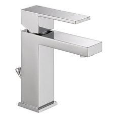 Delta 567LF-PP Angular Modern Single Hole Bathroom Faucet, Chrome
