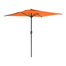 CorLiving Square Patio Umbrella, Orange