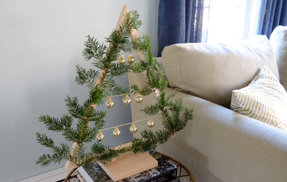 Holiday DIY: Charming Wooden Tabletop Christmas Tree