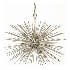 EMME STARBURST 12 LIGHT POLISHED NICKEL SPUTNIK CHANDELIER, 24""