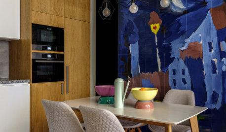 Houzz тур: Квартира для семьи — с рисунками сына на стенах