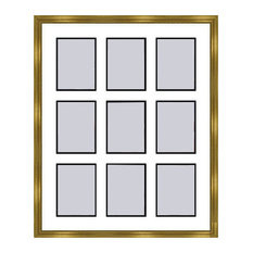 Gold Collage Picture Frame - 9 openings for 5X7 photos