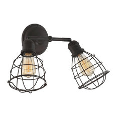 Savoy House   Savoy House Scout 2 Light Adjustable Sconce, English Bronze    Bathroom