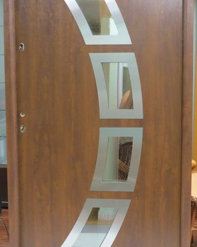 Modern Exterior Doors - Contemporary Metal PVC Front Entry Doors