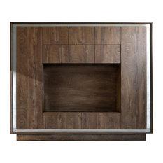SENA FURNITURE - Amber Cognac Oak Finish Wall Unit - Media Cabinets