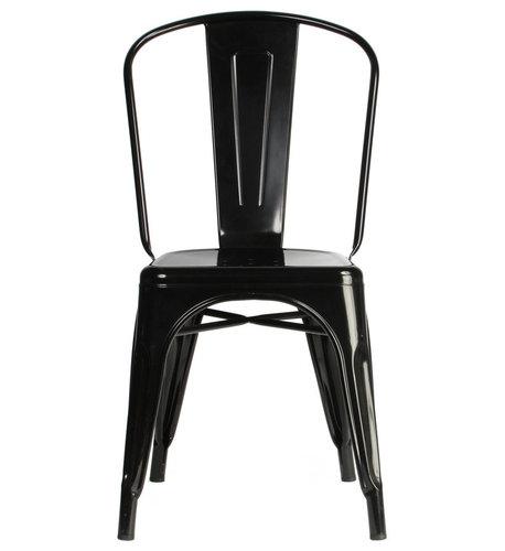 Stol A, Svart/Blank - Spisebordsstole