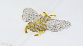 Hand Embroidered Bee