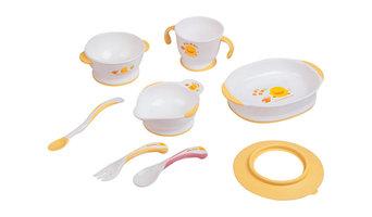 Piyo Piyo Training Tableware Set, Pink
