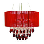 Ruby Red Crystal Chandelier - Traditional - Chandeliers - by Gallery