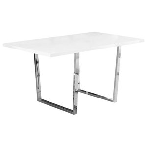 Dining Table in White Finish
