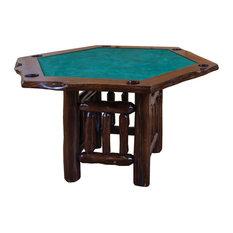 Furniture Barn USA   Rustic Live Edge Red Cedar Log Hexagon Game Table    Game Tables