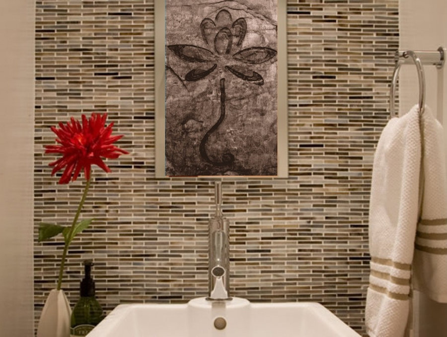 "Bathroom Tile: ""Lotus Flower"""