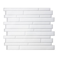 Milano Blanco Peel and Stick Wall Tiles, White, Set of 5