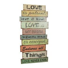 """""""Love Is Patient"""" Decorative Sign"""