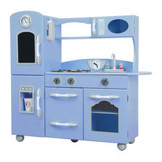 Blue Wooden Play Kitchen shop wooden play kitchen kids products on houzz