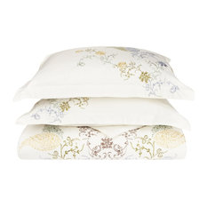 HYACINTH Duvet Cover Set, Soft Long-Staple Cotton, King/Cal King