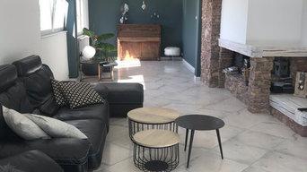 Rénovation d'un grand espace salon ainsi que l'entrée