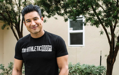 My Houzz: Mario Lopez Gives His Sister a Family Fitness Studio