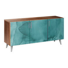 Pacific Waters Flare Sideboard, Walnut/Chrome