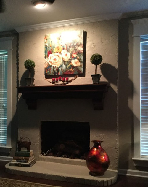 Extreme Shadowing On And Below The Fireplace Mantel