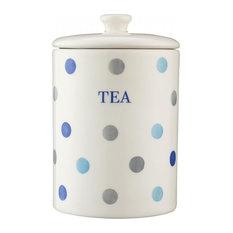 Price and Kensington Padstow Blue Tea Storage Jar, Polka Dot, 15 cm