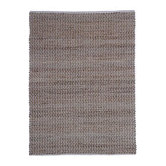 Chess Jute and Cotton Area Rug, Pink, 200x290 cm
