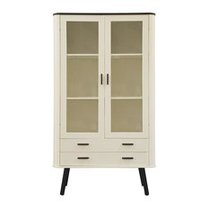 Kongelig Display Cabinet, White and Black