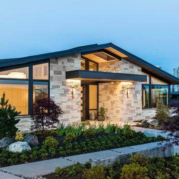 Downtown Bellevue Custom Home | Front Exterior