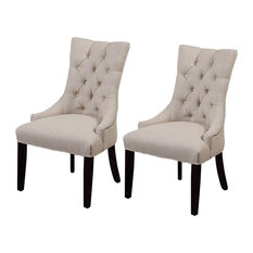 Fortnum Tufted Nailhead Parsons Chairs, Set of 2, Plain Fabric