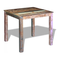 vidaXL Solid Reclaimed Wood Dining Table Kitchen Dining Room Home Furniture