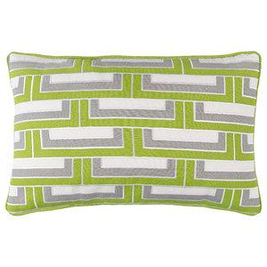 Surya Mod Steps Cotton Small Rectangle Pillow, 4  x13  x20