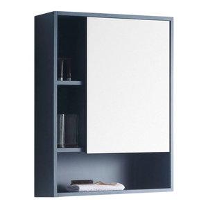 """Fine Fixtures, Surface Mount Bathroom Medicine Cabinet, Blue, 24"""", Right Door"""