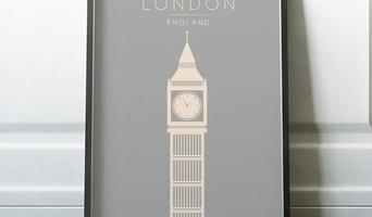 Minimalist London Wall Art Print