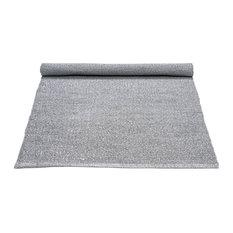 Grey Recycled Plastic Floor Rug, 75x200 cm